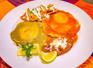 mexican chilaquiles breakfast in puerto vallarta